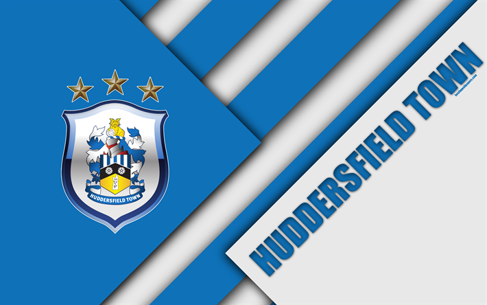 Download Wallpapers Huddersfield Town AFC, Logo, 4k