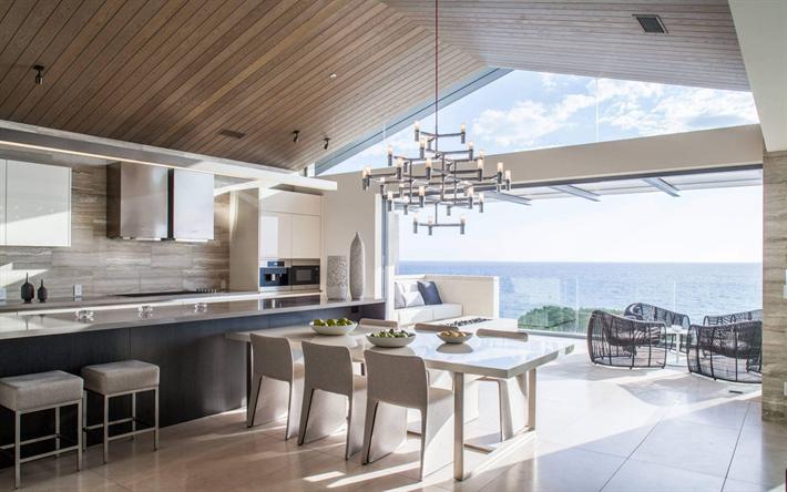Scarica sfondi cucina soggiorno design moderno villa for Interni casa design