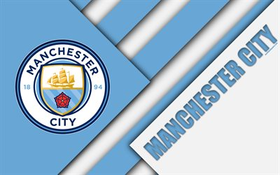Download wallpapers Manchester City FC, logo, 4k, material ...