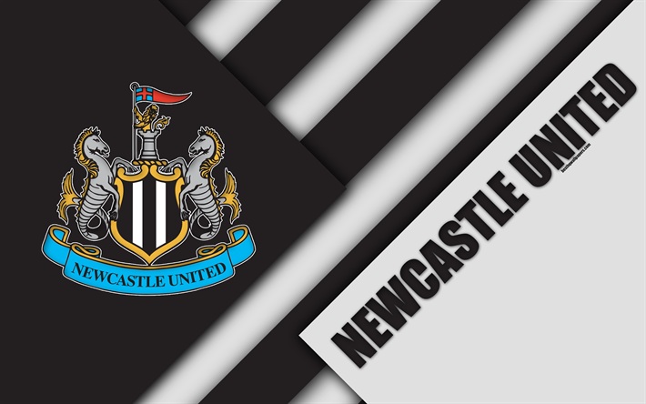 Download Wallpapers Newcastle United Fc Logo 4k Material Design