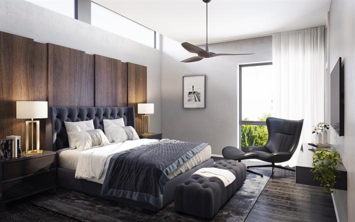 Scarica sfondi camera da letto, arredamento moderno, letto grande ...