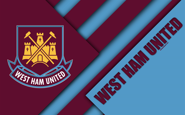 Download Wallpapers West Ham United FC, Logo, 4k, Material