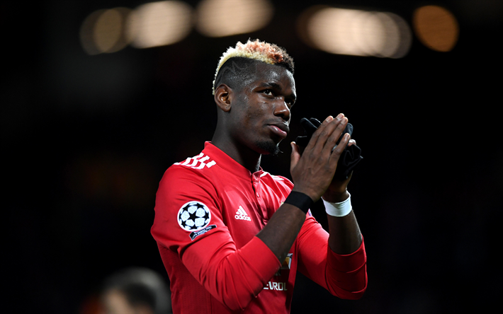 Download Wallpapers 4k, Paul Pogba, Match, Footballers