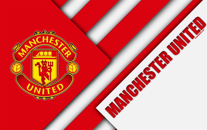 Download Wallpapers Manchester United Fc Logo 4k Mu