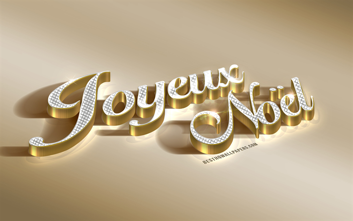 Image De Noel 3d.Download Wallpapers Joyeux Noel Golden 3d Inscription