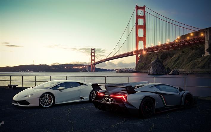 Download wallpapers Lamborghini Veneno, 2018, Lamborghini