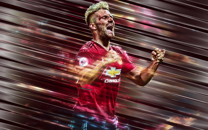Download Wallpapers Luke Shaw 4k Manchester United