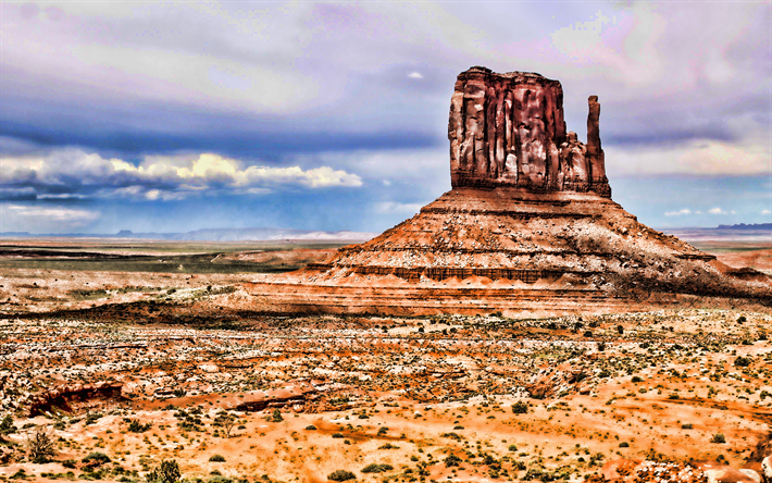 Download Wallpapers 4k Monument Valley Hdr Desert