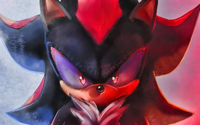 Shadow the Hedgehog, 4k, Sonic Le Hérisson, affiches, 2020 film, affiche, Sonic, Noir Sonic
