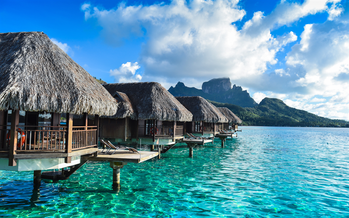 Hd Tropical Island Beach Paradise Wallpapers And Backgrounds: Download Wallpapers Bora Bora, French Polynesia, Pacific