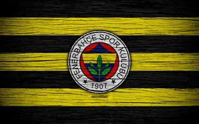 Download wallpapers Fenerbahce, 4k, Turkey, wooden texture, Super Lig, soccer, football club, FC ...