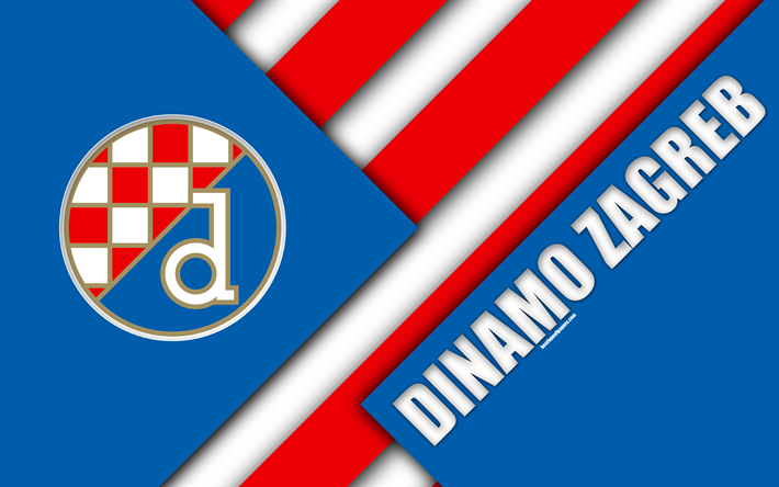 Download Wallpapers Gnk Dinamo Zagreb 4k Blue White
