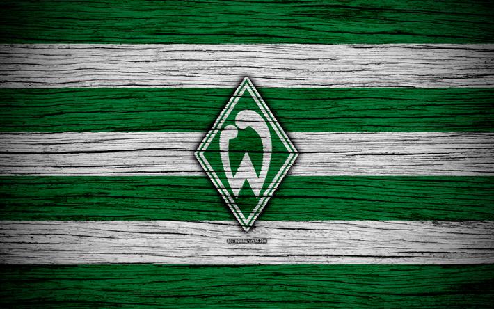 Gemeinsame Download wallpapers Werder Bremen, 4k, Bundesliga, logo, Germany #IU_71