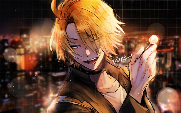 Download Wallpapers Kaminari Denki 4k Manga My Hero