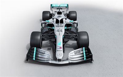 2019, Mercedes-AMG W10, Formula 1, Mercedes AMG F1 W10, EQ Power, Mercedes-Benz Formula One, Lewis Hamilton, new racing car F1 2019, racing