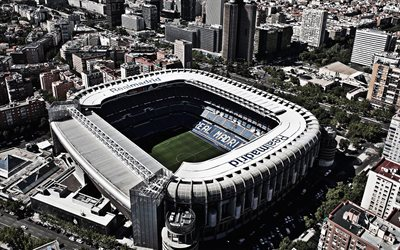 Santiago Bernabeu, Madrid, Spain, Real Madrid Stadium, Spanish Football Stadium, Cityscape, La Liga, Stadiums, Football