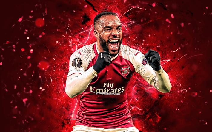 Download Wallpapers Alexandre Lacazette, Joy, Arsenal FC