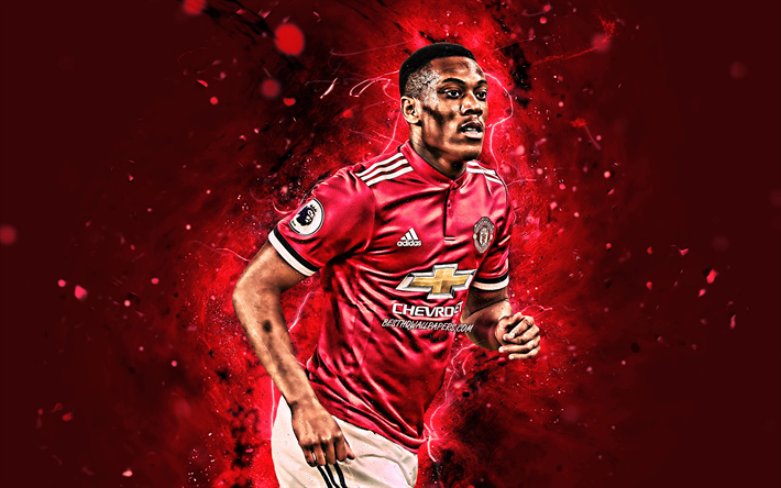 Download Wallpapers 4k Anthony Martial Close Up