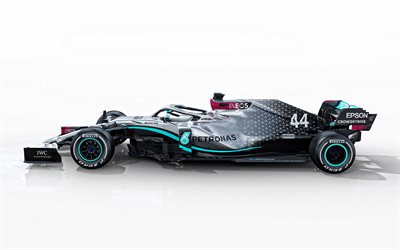 2020, Mercedes-AMG F1 W11 EQ Performance, 4k, side view, exterior, Formula 1, F1 2020, racing car, W11, Mercedes AMG Petronas Motorsport