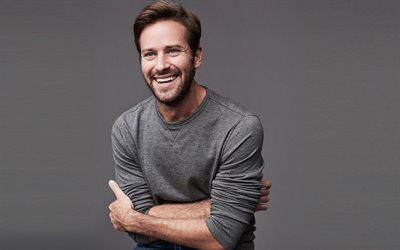 Armie Hammer, american actor, portrait, photoshoot, smile, american stars