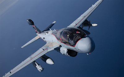 Grumman EA-6 Prowler, deck aircraft, US Navy, electronic-warfare aircraft, Military aircraft