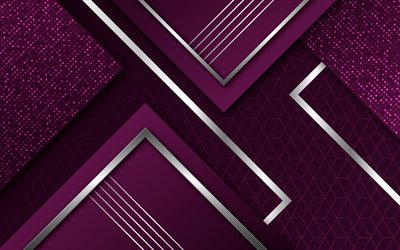 material design, purple geometric shapes, abstract art, geometry, lines, creative, geometric shapes, lollipop, triangles, strips, purple backgrounds