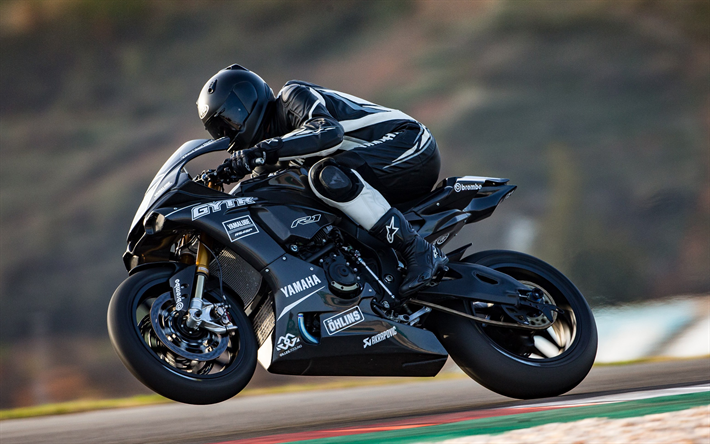 download wallpapers yamaha yzf r1 2018 gytr black sport motorcycles racing track black yzf. Black Bedroom Furniture Sets. Home Design Ideas