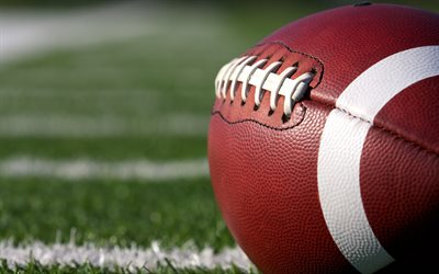 4k, rugby, ball, close-up, NFL, american football