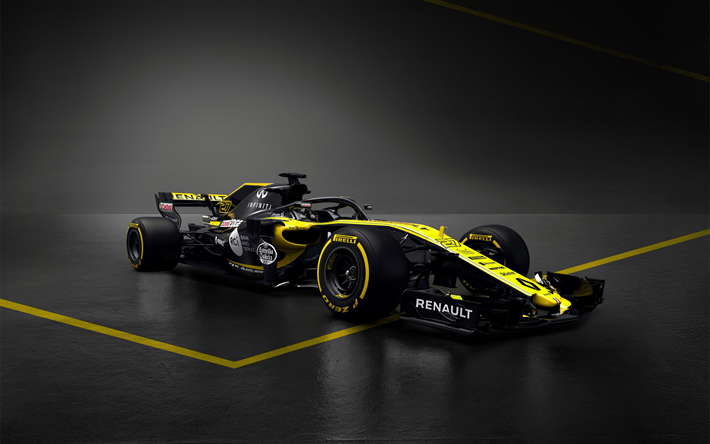 download wallpapers formula 1 renault rs 18 4k formula one new renault f1 2018 cars f1. Black Bedroom Furniture Sets. Home Design Ideas