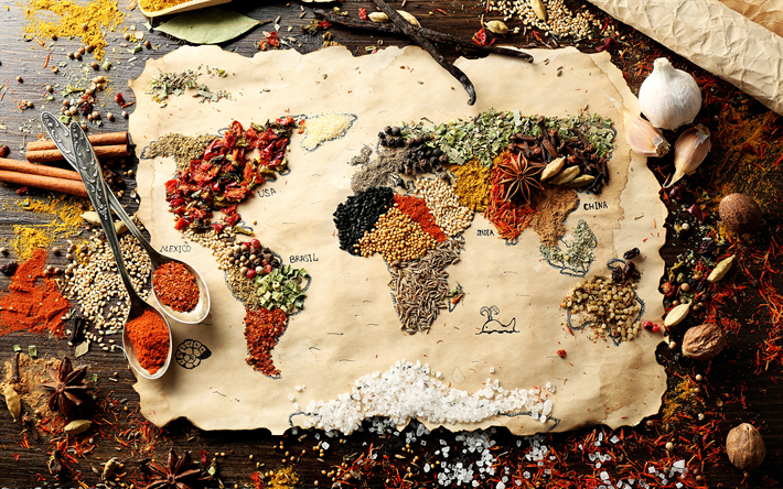 Download wallpapers world map 4k continents geography spices world map 4k continents geography spices creative gumiabroncs Image collections