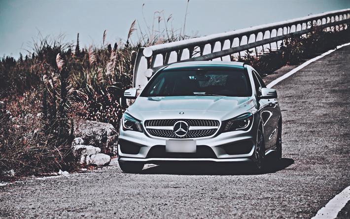 Download Wallpapers 4k Mercedes Benz Cla Class Road 2019