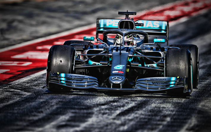 Download Wallpapers 4k Lewis Hamilton Pitlane Mercedes W10 F1
