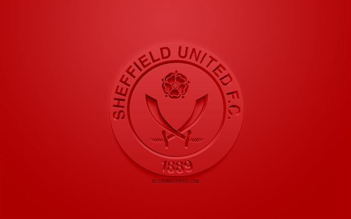 Download Wallpapers Sheffield United FC, Creative 3D Logo