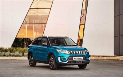 4k, Suzuki Vitara, parking, 2019 cars, crossovers, new Vitara, 2019 Suzuki Vitara, Series II, japanese cars, Suzuki