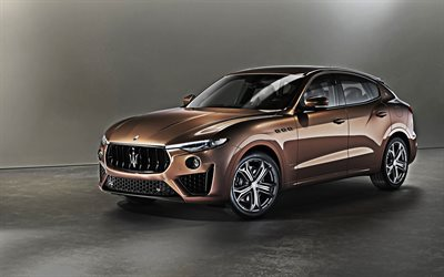 Maserati Levante S, Q4 GranSport, 2019, Zegna Pelletessuta, tuning, luxury SUV, new brown Levante, italian cars, Maserati