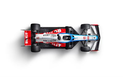 4k, Williams FW43, le minimalisme, vue d'en haut, 2020 voitures de F1, Formule 1, la Williams Mercedes FW43, F1, Williams 2020, Les voitures de F1, ROKiT Williams Racing, nouvelle FW43