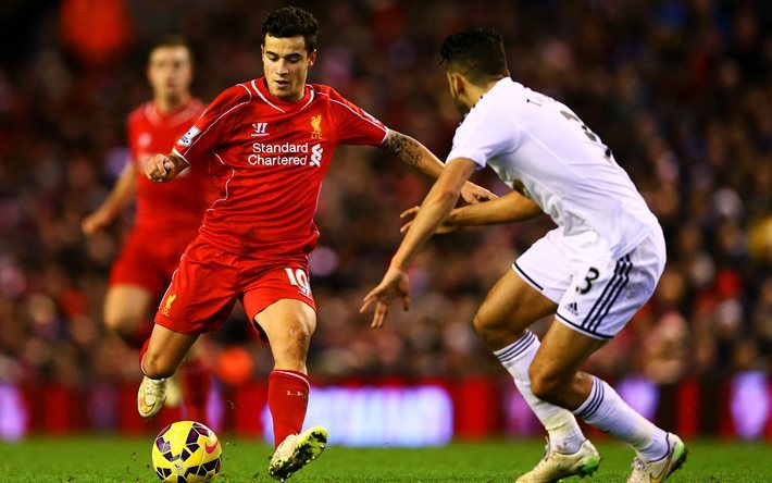 Philippe Coutinho, Football, Liverpool, England, Premier League, Brazilian football player