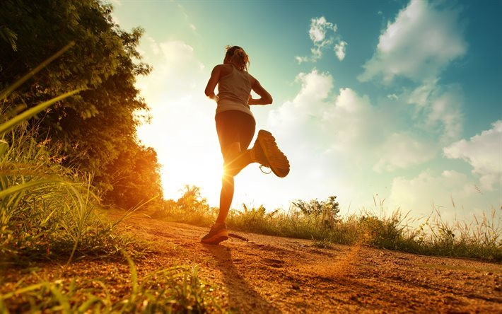 85c2cccc12164 Download wallpapers Morning run, healthy lifestyle, morning, runners ...
