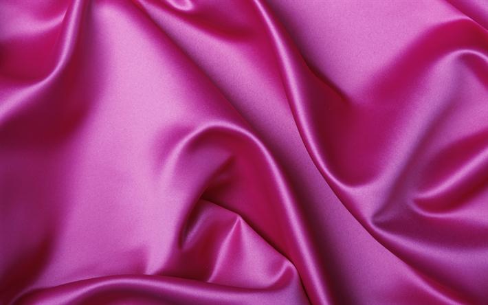Scarica Sfondi Di Seta Rosa 4k Texture Tessuto Seta Per Desktop