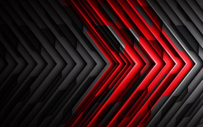 black and red abstraction, high-tech background, creative background, art, black and red lines