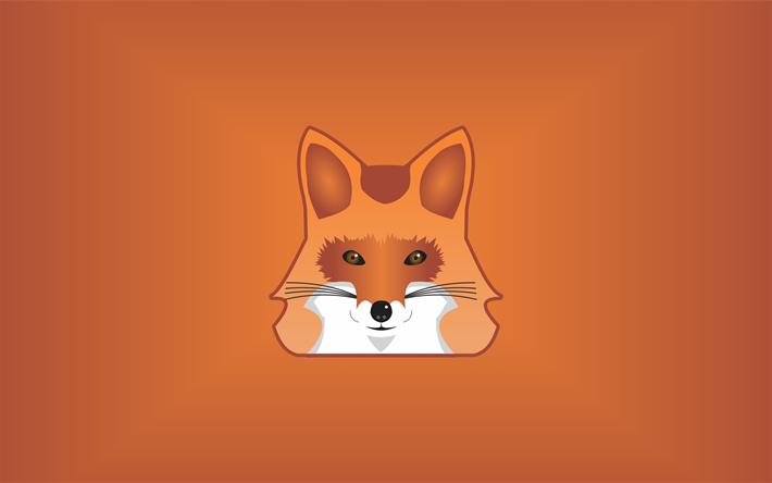 Indir Duvar Kağıdı Fox 4k Minimal Komik Tilki Kahverengi Arka