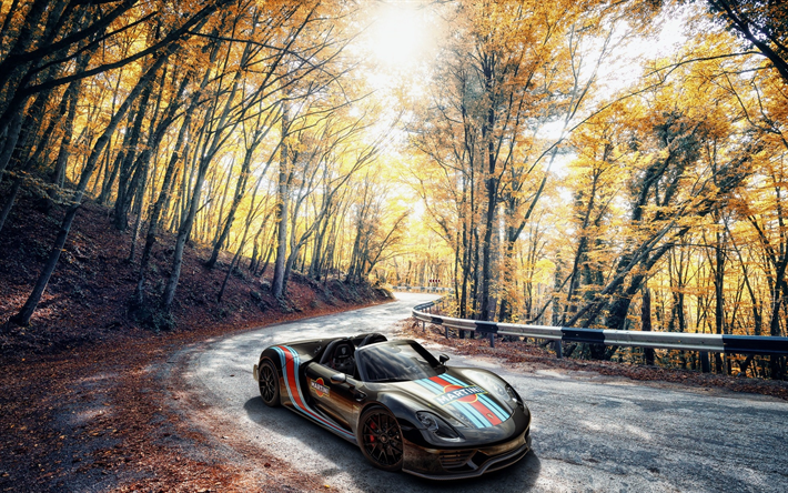 Download Wallpapers Porsche 918 Spyder 4k Road 2018 Cars