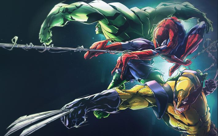 T l charger fonds d 39 cran 4k hulk wolverine spider man - Telecharger hulk ...