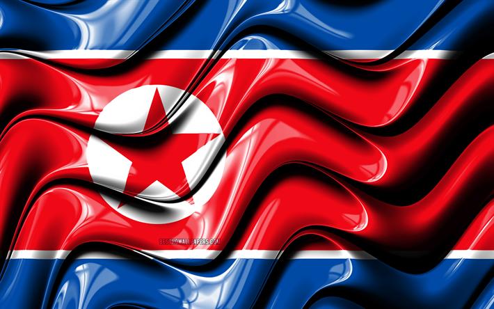 Download Wallpapers North Korean Flag 4k Asia National Symbols
