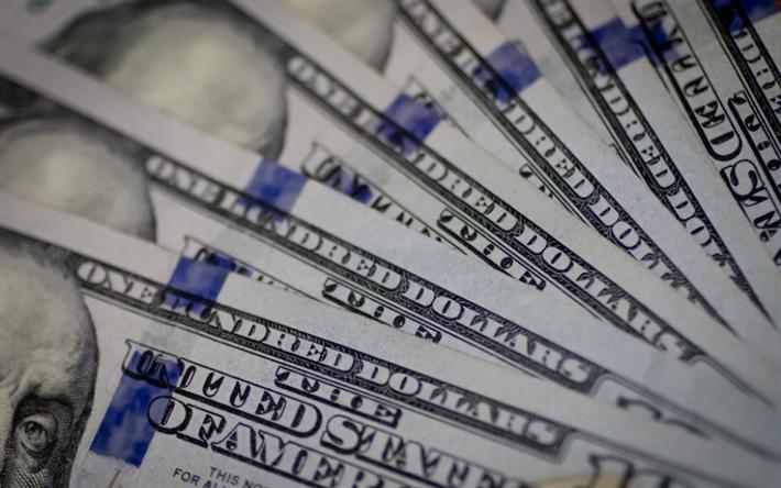 Download wallpapers money texture, american dollars, finance