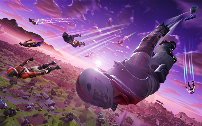 Voando De Burnout, Fortnite Battle Royale, 2019 jogos, Fortnite, Burnout, cyber warriors, Burnout Fortnite