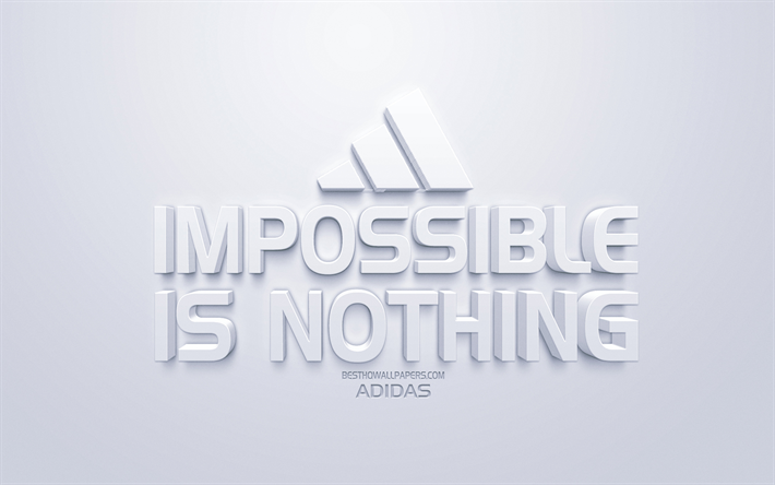 site réputé 7c47d f3f72 Download wallpapers Impossible is nothing, Adidas ...