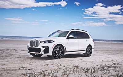 4k, BMW X7, offroad, 2019 cars, G07, luxury cars, SUVs, BMW G07, german cars, new x7, BMW, 2019 BMW X7