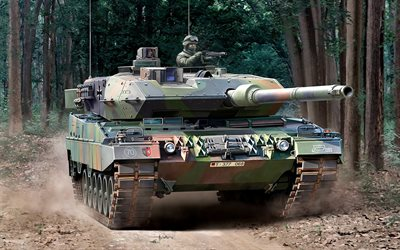 Leopard 2A6, German main battle tank, modern tanks, Bundeswehr, Leopard 2, Germany, NATO
