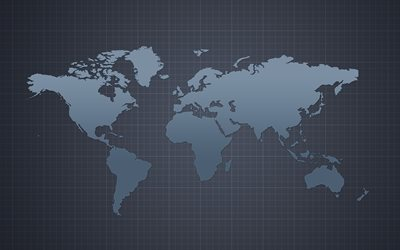 gray world map, world map concept, art, creative, world map on gray background, world maps